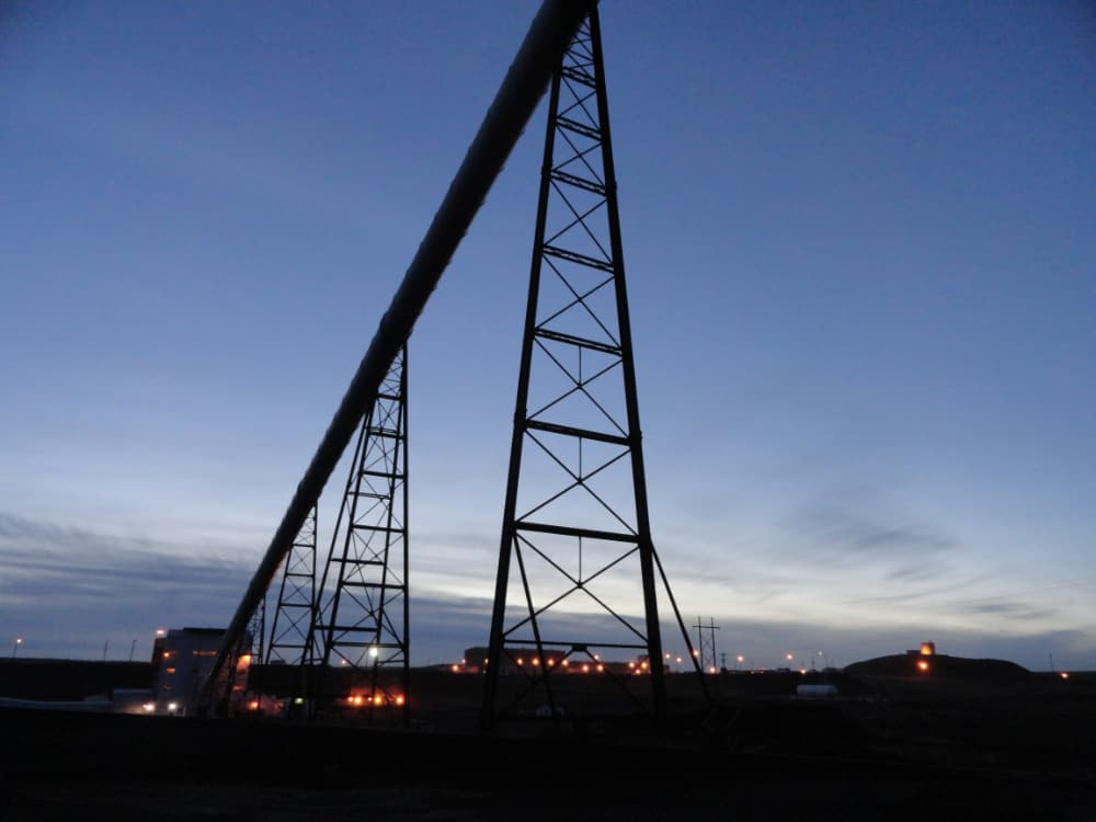coal conveyor structure with lights uses commercial and industrial electrical services