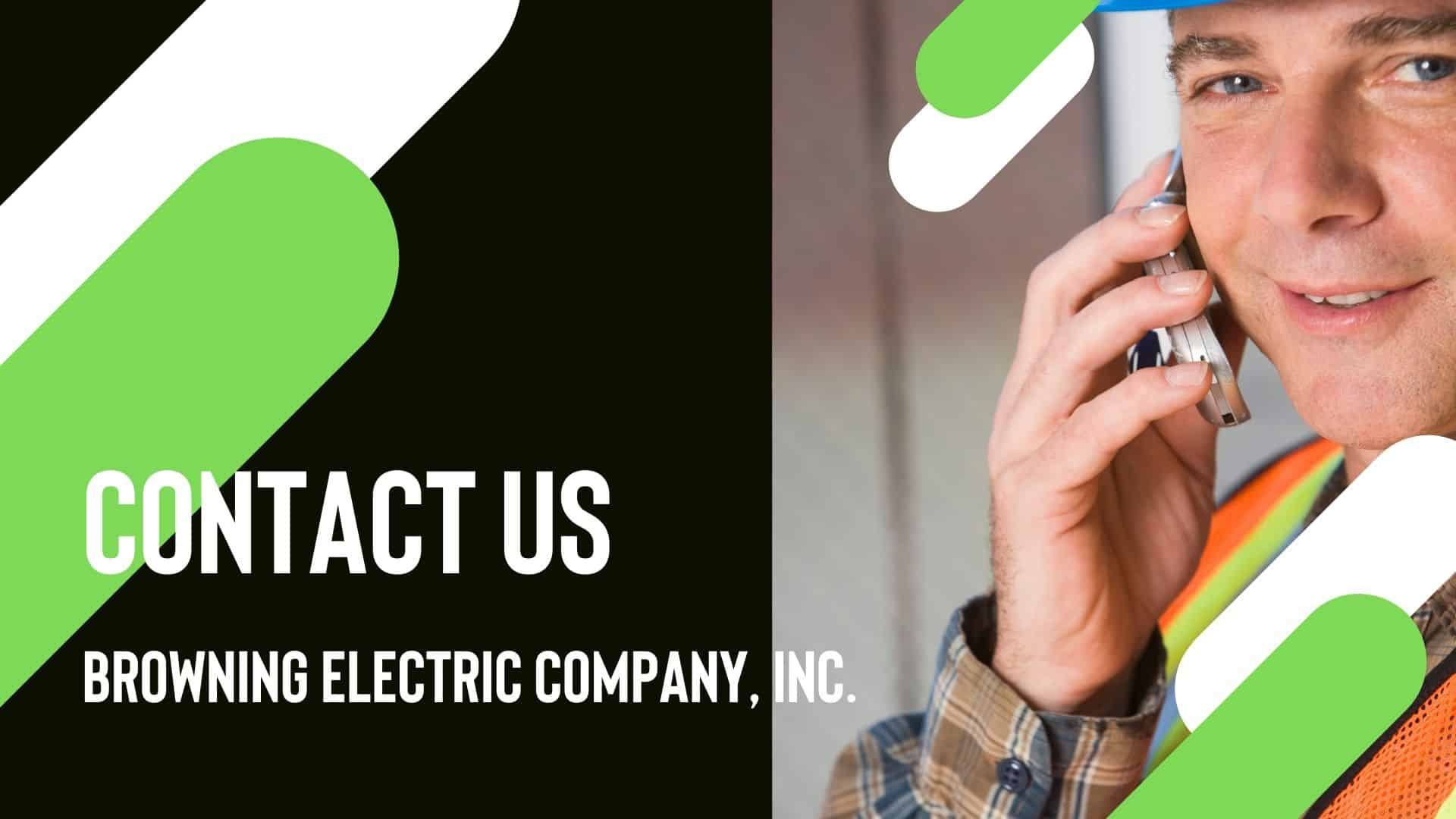 browning electric Commercial And Industrial Electrical Services contact us page