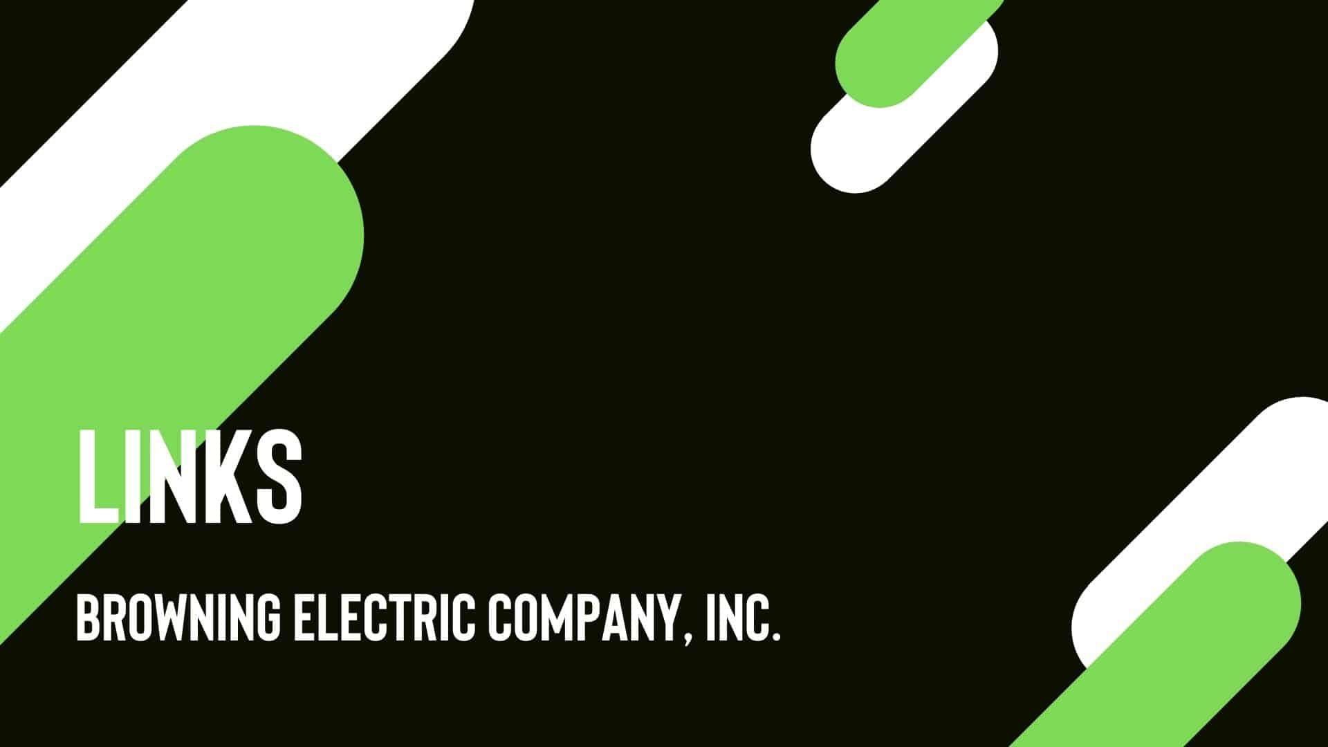 links browning electric company web page design