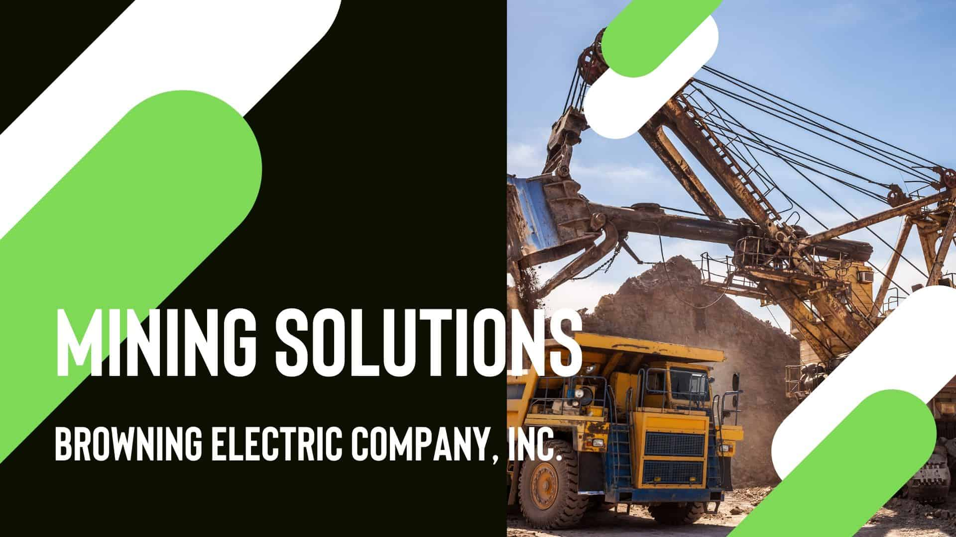 mining electrical services web page design